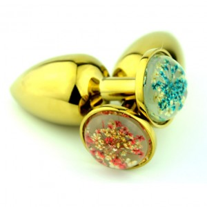 Gold Anal Plug Anus Beads Butt Massager Crystal Star Color Colorful Jewelry Base