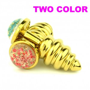 Colorful Star Jewelry Base Anal Plug Wholesale Spiral Butt Plugs Anus Beads