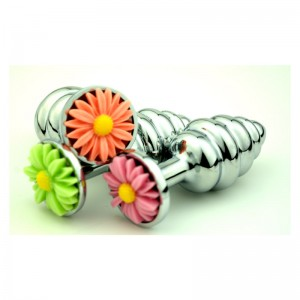 New Style Flower Base Chrysanthemum Anal Plug Spiral Butt Plugs Anus Intruder