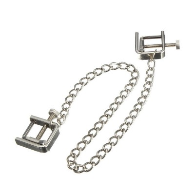 Nipple Clamps Breast BDSM Gear Fetish Metal Steel Screw Stress Squeezer