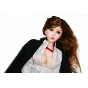 New Design Fully Solid Sex Doll Silicone Love Doll Mini 68cm Height Built In Skeleton