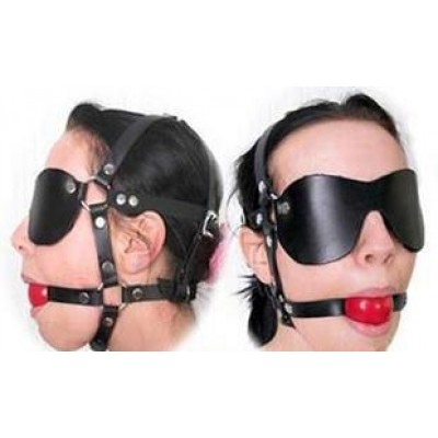 Blindfold And Mouth Gag One Piece Set