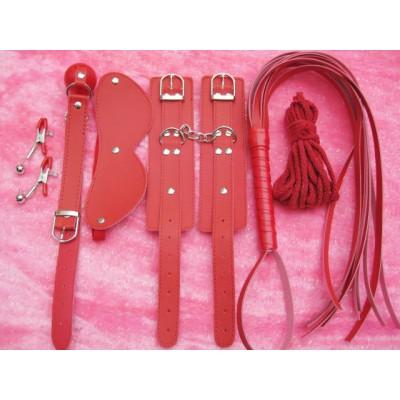 Red Bondage Gear Kit 6pcs