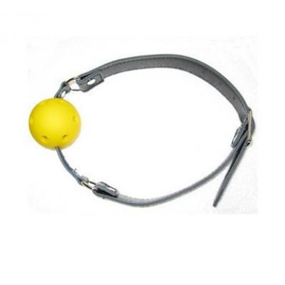 Simple Design Sm Toys Ball Gag (Leather)