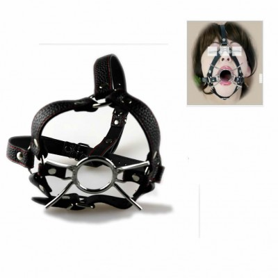 Open Mouth Spider Mouth Gag Ball O Ring Head Harness Mask Muzzle