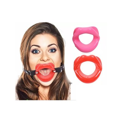 Bondage Mouth Gag Leather Head Harness BDSM Gear Ball Gags Force Mouth Open