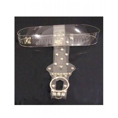 Female Translucent Crystalized Chastity Belt