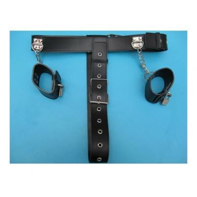 BDSM Toys Wholesale Chastity Belt Hand Cuff Set