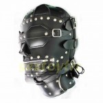 2015 New Stud Design Fetish BDSM Bondage Gear Leather Hoods Muzzles