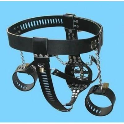 BDSM Toys Men Chastity Belt With Hand Cuffs