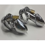 New Design Metal Stainless Steel Male Chastity Device Penis Restraint Cage Long and Short