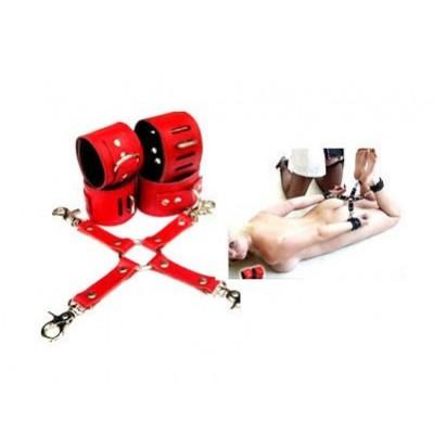 BDSM Toys Manufacturer Ankle & Hands Cross Restrain Set Wholesale