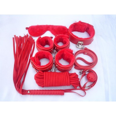 Best Value Bondage Gear 7 Pieces Pack Red
