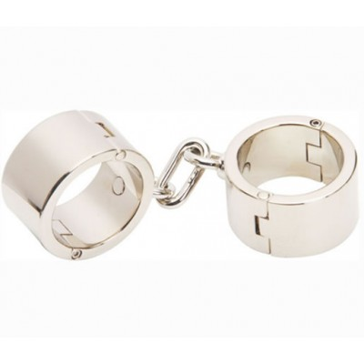 1.1kg Bondage Gear Heavy Metal Wrist Cuff  for Male Men Handcuff