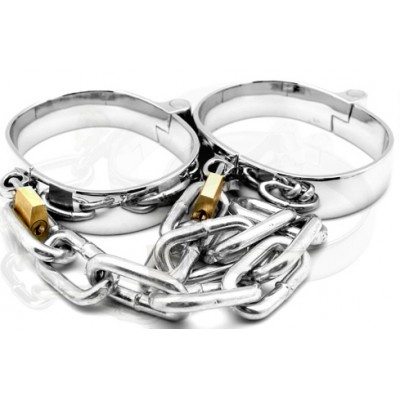 Quality Metal Ankle Cuffs with Chain Shackles Male Female Unisex