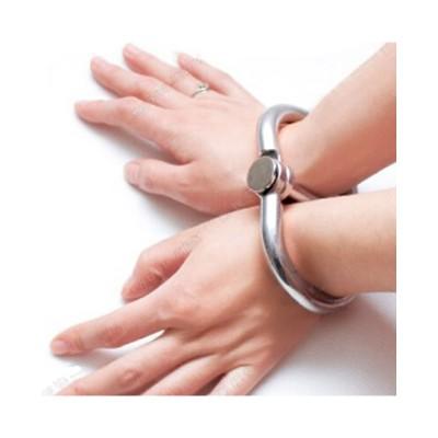 Bondage Gear Metal Wrist Cuffs Hand Restraint Fetish Gear Unisex Use