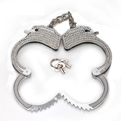 Diamond Metal Steel Bondage Wrist Hand Cuffs Sex Toys Handcuffs Restraints