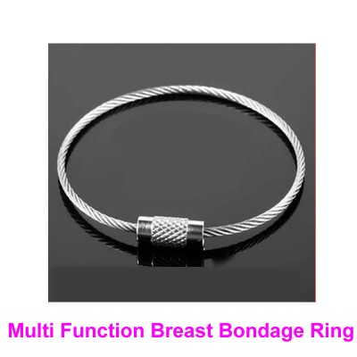 1 Pair Multi Function Breast Bondage Rings Female Boobs Booby Restraint Gear