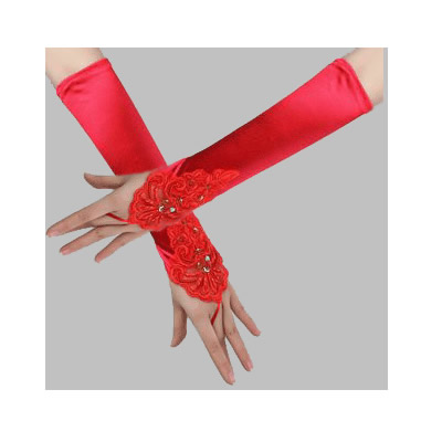 Sexy Satin Gloves Sexy Lingerie Costume Accessories for Female Women Multi Color