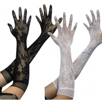 Sexy Lace Gloves White Black for Female Women Lingeries Costume Accessories