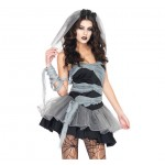 Sexy Lingerie Cosplay Party Dress Halloween Female Zombie Vampire Costume