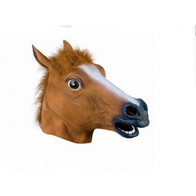 Animal Sex Fantasy Kit Sex Play Costume Sexy Horse Head Mask Hood Fetish Sex Toy