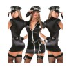 Sexy Policewoman Costumes Police Woman Uniform Leather Cop Costume