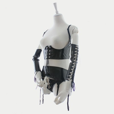 Sexy Lingerie Sexy Leather Bodysuit Bdsm Leather Dress Dominatrix Costume