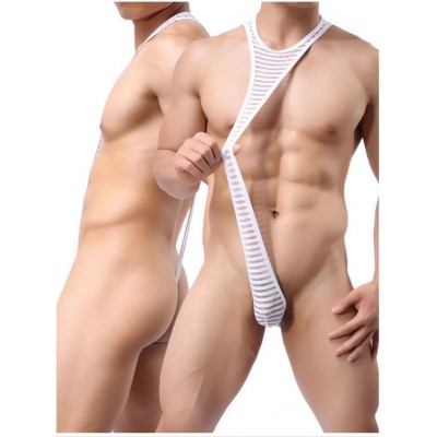 2018 Men Fashion Sexy Lingerie Clubwear Costume Bodysuit Thong Underwear