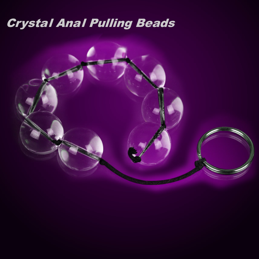 Glass Sex Toy Anal Pulling Beads Crystal Translucent Anus Butt Masturbator