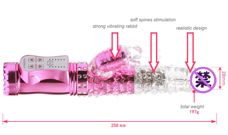 New Design Waterproof Rabbit Vibrator Female Sex Toys Massager Women G-spot Stimulator Vibrating Rotating Pearl Cheap Price Wholesale