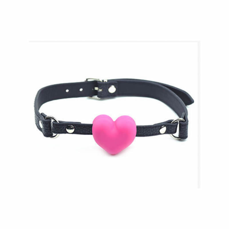 Heart Shape Mouth Open Ball Gag Gagging Device Silicone