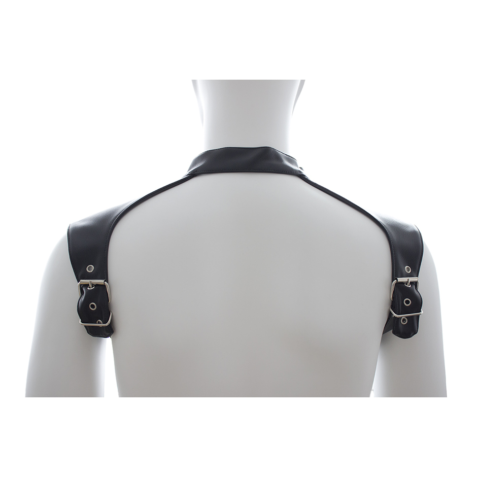 Men's Sexy Leather Neck Collar Male Body Chest Harness Straps