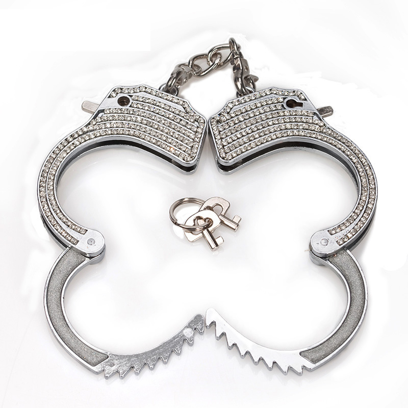 Diamond Metal Steel Bondage Wrist Hand Cuffs