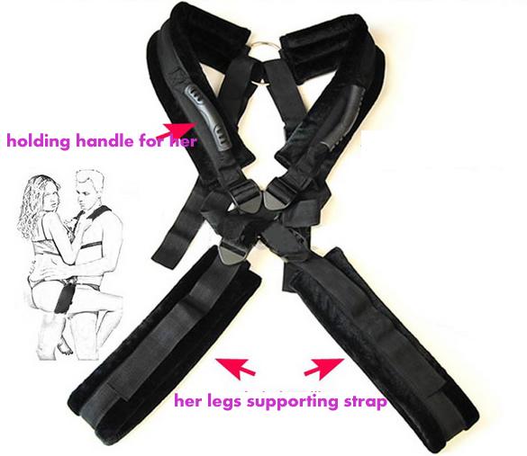 New Design Leather Body Sex Swing Harness Hoisting Strap Belts Sex Sling