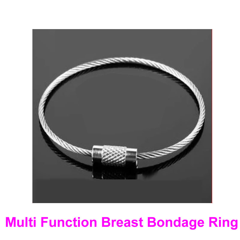 1 Pair Multi Function Breast Bondage Rings Female Boobs Booby Restraint BDSM