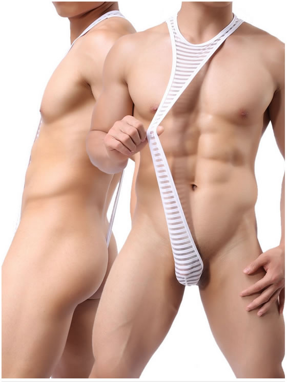 Men Fashion Sexy Lingerie Clubwear Costume Bodysuit Thong Underwear