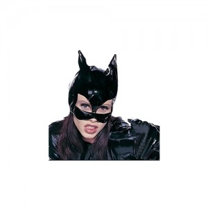sexy cat mask, catsuit costume mask, leather cast mask