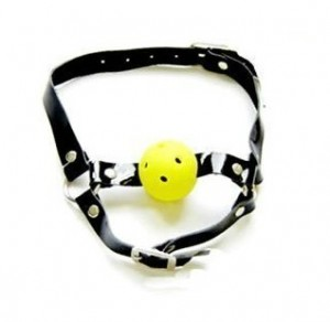 ball gag mouth harness for BDSM play.
