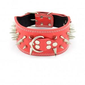 spike bondage collar, spiked bdsm collar, spike leather collar