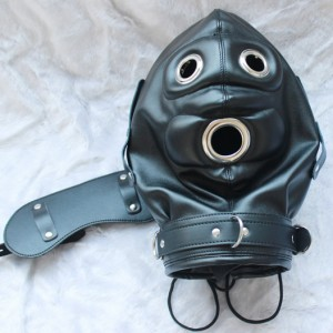 classic bondage gear hood.