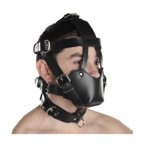 new design bondage hood, leather bondage mask, bdsm bondage muzzle
