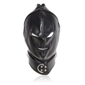 bondage zipper hood, zipper bondage mask, bdsm zipper hood