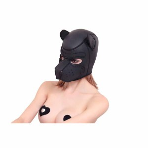 new dog hood, new bondage mask, new bondage muzzle