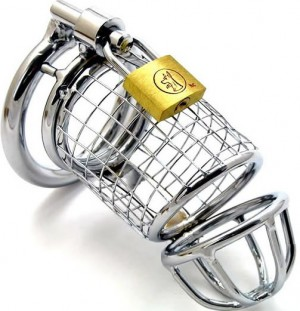 metal bdsm toy penis cage.