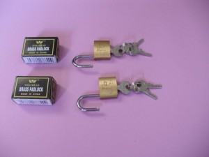 bondage gear accessory brass padlock.