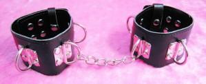 bondage restrained hand cuffs.