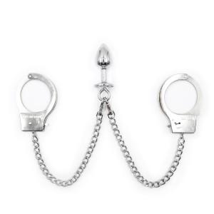Anal bondage cuff, anal wrist cuff, anal plug cuff