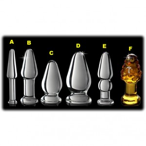 Crystal Glass Anal Plug Series Wholesale Cheap Price Pyrex Butt Anus Beads
