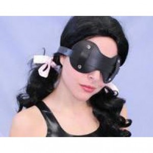BDSM play genuine leather blinder.